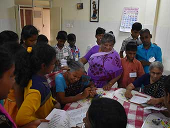 Children Parliament Group visit to Old Age Home